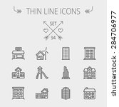 construction thin line icon set ... | Shutterstock .eps vector #284706977