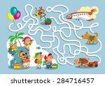 game maze for children. funny... | Shutterstock .eps vector #284716457