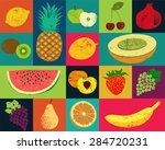 pop art grunge style fruit...   Shutterstock .eps vector #284720231