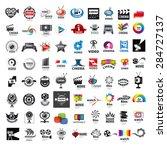 large set of vector logos photo ... | Shutterstock .eps vector #284727137