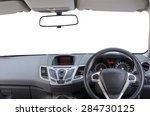 interior of right hand drive... | Shutterstock . vector #284730125