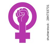 symbol of feminist movement.... | Shutterstock .eps vector #284733731