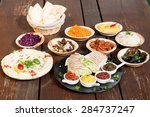 different appetizer and anti... | Shutterstock . vector #284737247