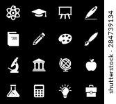 vector white education icon set. | Shutterstock .eps vector #284739134