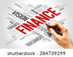 finance word cloud  business... | Shutterstock . vector #284739299