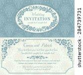 antique baroque wedding... | Shutterstock .eps vector #284739731