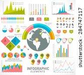 creative statistical...   Shutterstock .eps vector #284747117