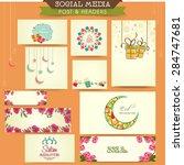 social media ads  post and...   Shutterstock .eps vector #284747681