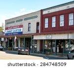 plains  ga may  2015   main... | Shutterstock . vector #284748509