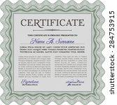 sample diploma. nice design.... | Shutterstock .eps vector #284753915