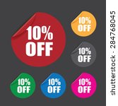 ten percent off stickers | Shutterstock .eps vector #284768045