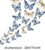 the flying up watercolor... | Shutterstock .eps vector #284774144