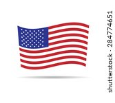america flag independence day... | Shutterstock .eps vector #284774651