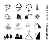 disaster nature power icons set | Shutterstock .eps vector #284775161