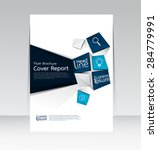 vector design for cover report... | Shutterstock .eps vector #284779991