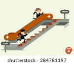 businessman going up to the... | Shutterstock .eps vector #284781197