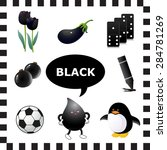 learn the color black  things... | Shutterstock .eps vector #284781269
