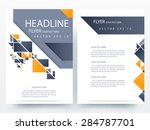 abstract vector modern flyer ... | Shutterstock .eps vector #284787701