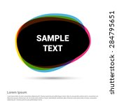 colorful speech bubble for... | Shutterstock .eps vector #284795651