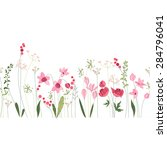 seamless pattern brush with... | Shutterstock .eps vector #284796041