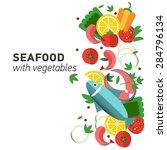 seafood design set. infographic ... | Shutterstock .eps vector #284796134