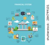 finance system concept with... | Shutterstock .eps vector #284799101