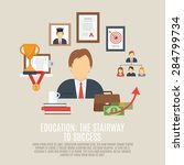 career concept with success and ... | Shutterstock .eps vector #284799734