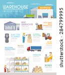 warehouse infographics set with ... | Shutterstock .eps vector #284799995