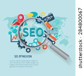 seo marketing concept with... | Shutterstock .eps vector #284800067