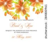 wedding invitation card   Shutterstock .eps vector #284800961