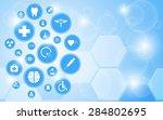vector medical health care icon ... | Shutterstock .eps vector #284802695