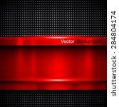background red metal texture ... | Shutterstock .eps vector #284804174
