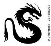 vector stylized dragon... | Shutterstock .eps vector #284806019