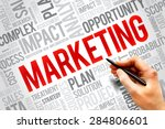 marketing word cloud  business... | Shutterstock . vector #284806601