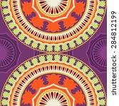 seamless pattern ethnic style....   Shutterstock .eps vector #284812199