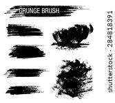 vector set of grunge brush...   Shutterstock .eps vector #284818391