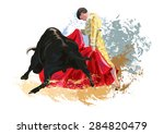bull fight   illustration | Shutterstock .eps vector #284820479
