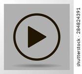 media player control button | Shutterstock .eps vector #284824391
