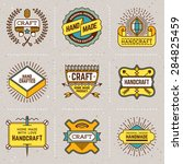 assorted retro design color... | Shutterstock .eps vector #284825459