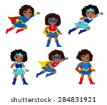 African American Cute Superher...