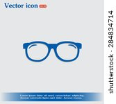 vector illustration glasses | Shutterstock .eps vector #284834714