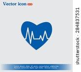 heart pulse icon   Shutterstock .eps vector #284837531