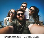 multiracial group of young...   Shutterstock . vector #284839601