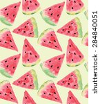 seamless pattern of sweet juicy ... | Shutterstock .eps vector #284840051