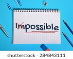 impossible word writing on... | Shutterstock . vector #284843111