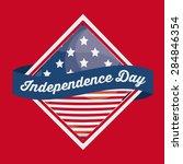 usa design over red background  ... | Shutterstock .eps vector #284846354