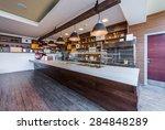 lunch counter at modern public...   Shutterstock . vector #284848289