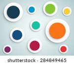 abstract circle vector... | Shutterstock .eps vector #284849465