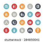 icons set of human resources... | Shutterstock .eps vector #284850041