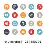 web   mobile icons   3   ... | Shutterstock .eps vector #284850101